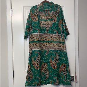 Zara green paisley tunic dress